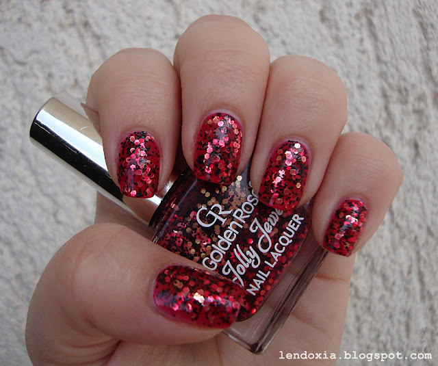 golden rose glitter