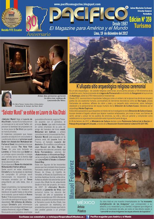 Revista Pacífico Nº 359 Turismo