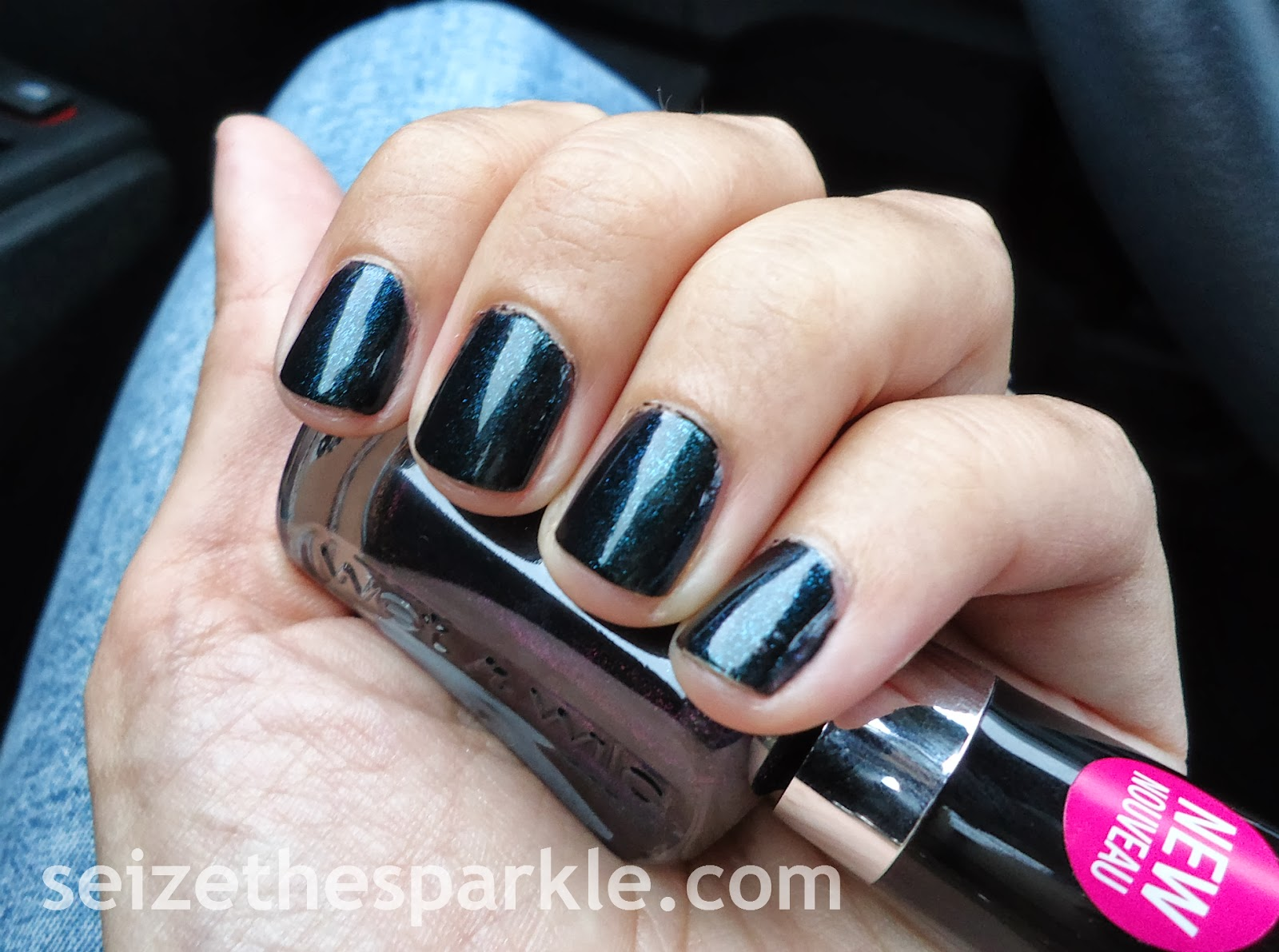 Blackened Teal Shimmer Nail Polish