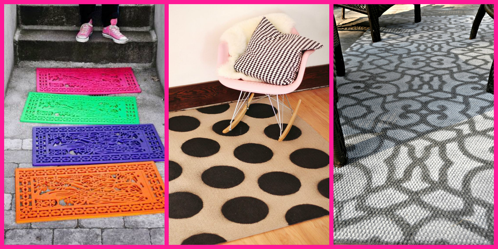 SPRAY PAINT RUG DOORMAT/ FELPUDOS ALFOMBRAS PINTURA SPRAY DIY