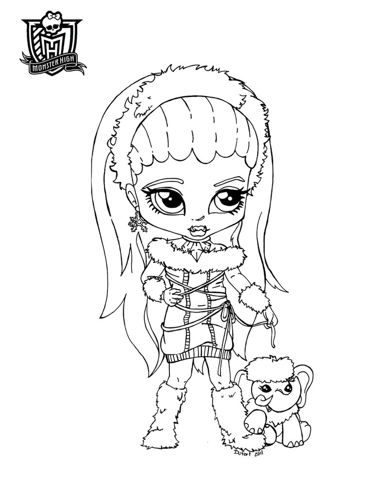 Unique Comics Animation Ultimate Monster High Coloring Pages