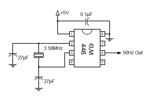 50 hz accurate oscillator circuit