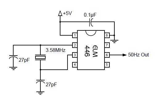 50 hz accurate oscillator circuit