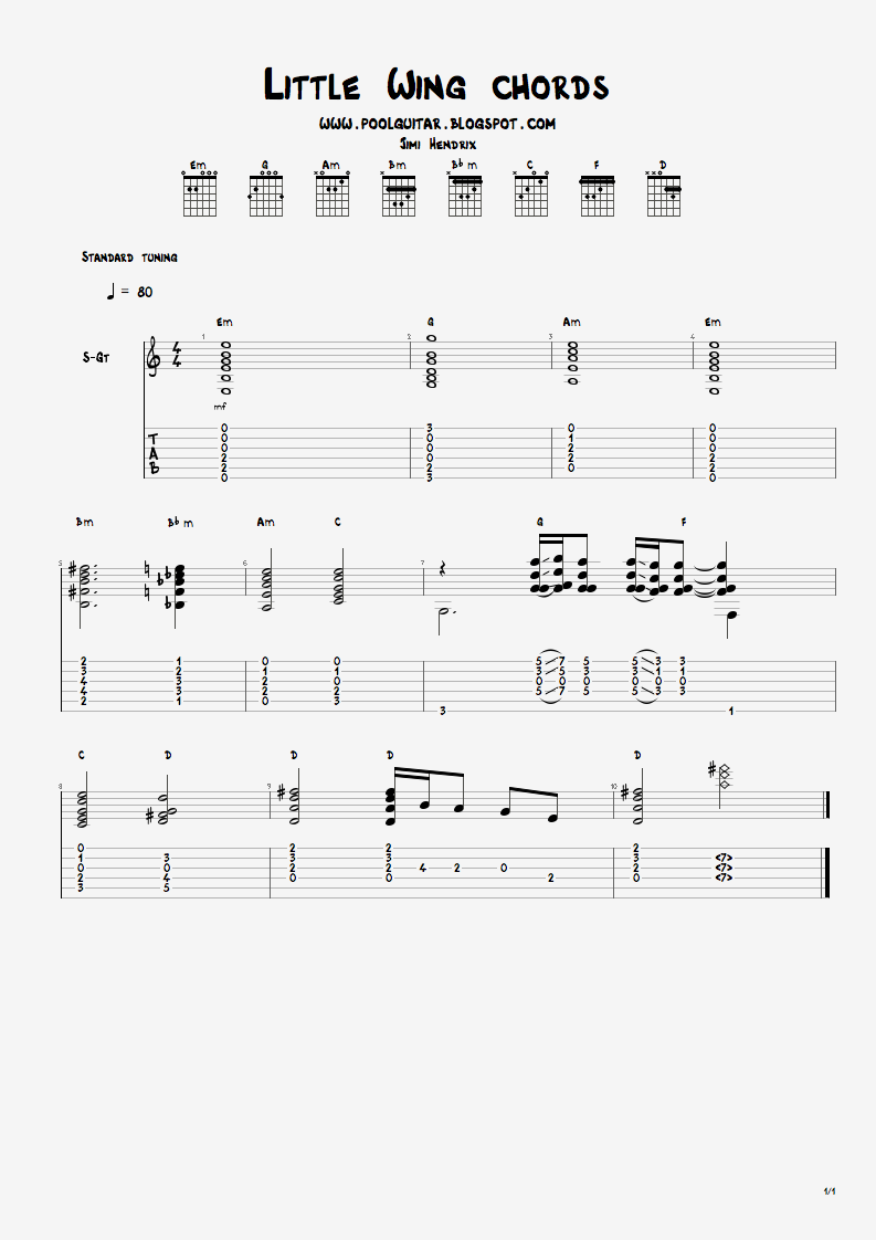 Frank gambale little wing live chords poolguitarblog before or after you have a go at the tabs and the actual parts jimi played i think its good to have an understanding of the basic chord structure hexwebz Choice Image