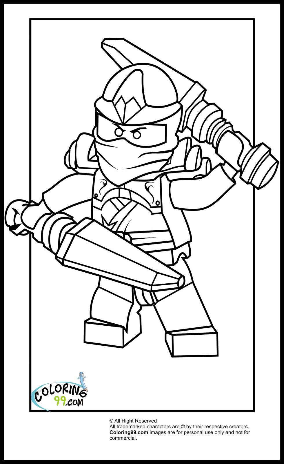 ninja lego coloring pages - lego ninjago kai coloring pages team colors