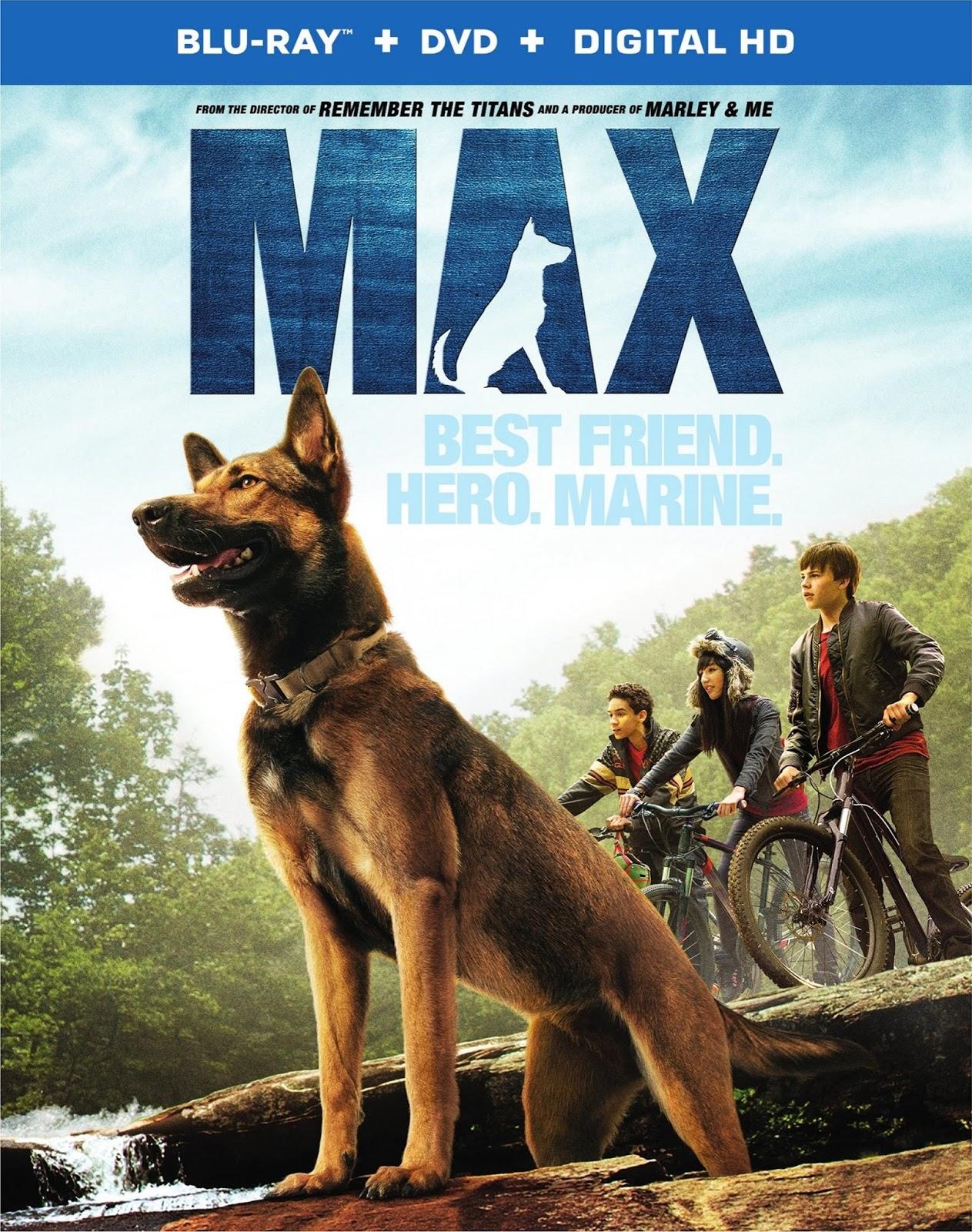 Max (2015) 1080p BD25 Blu-ray Cover Caratula