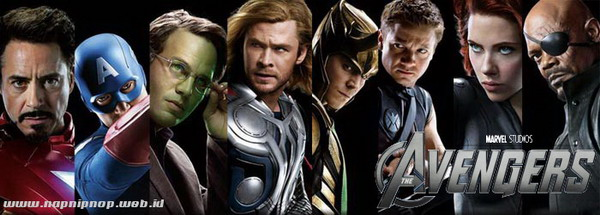 Review film adaptasi komik terbaru Marvel Studio 2012, The Avengers.