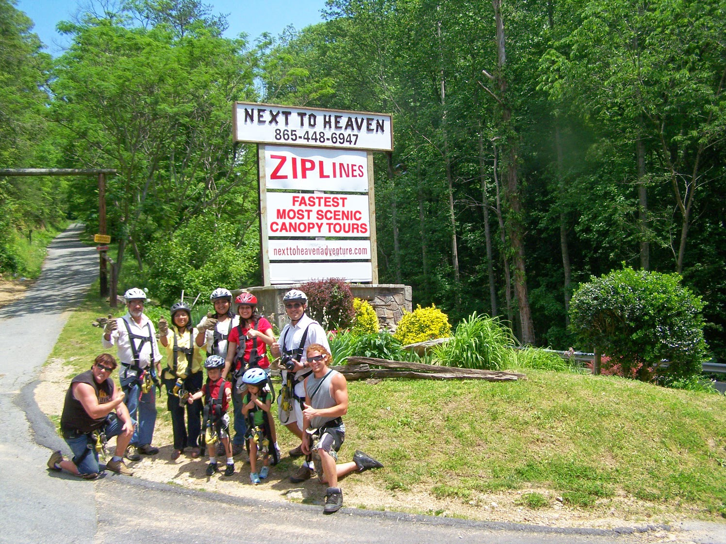 Great for you next group adventure - zipline at Next to Heaven Ranch