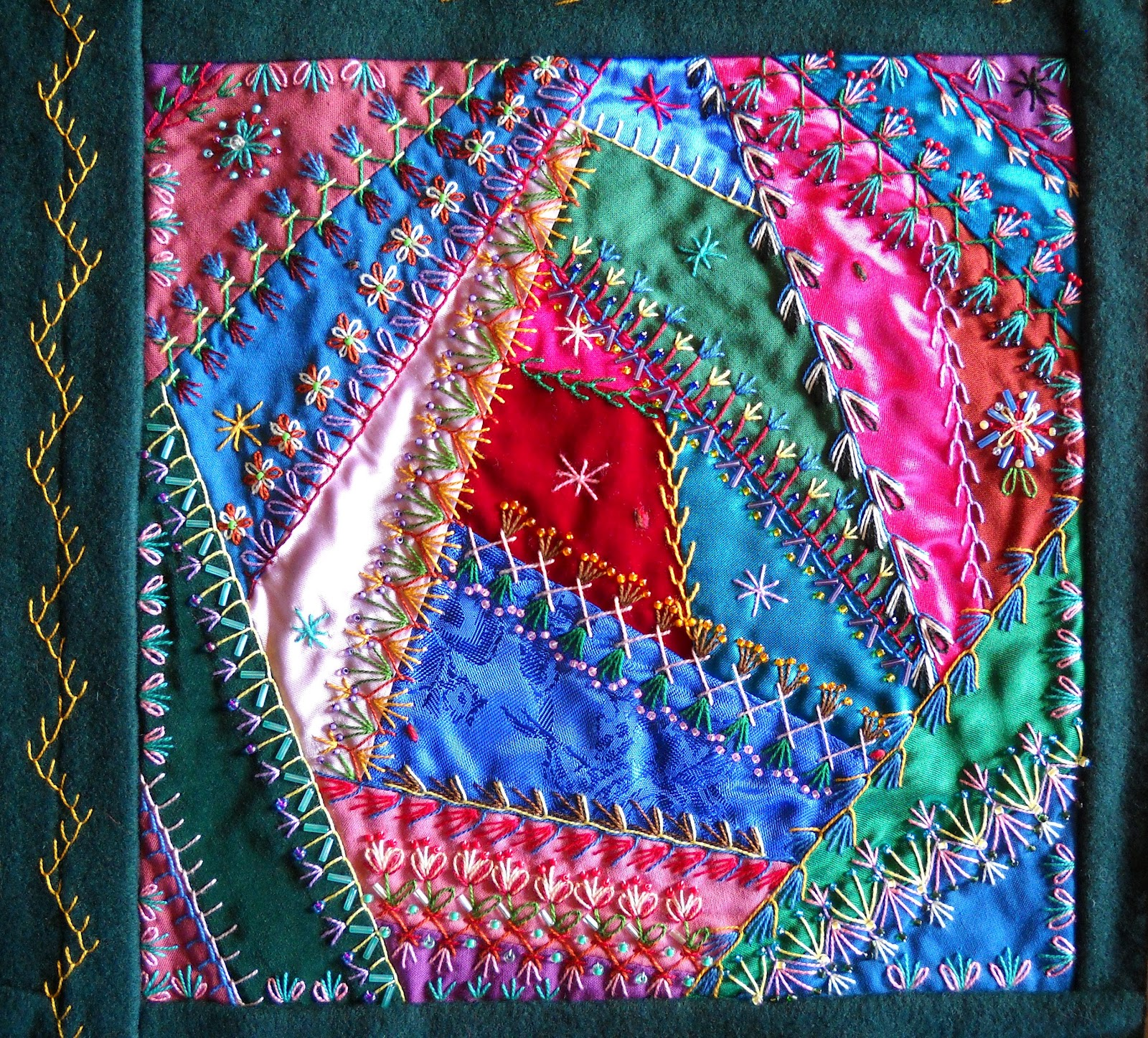 Julies Creative Ideas Victorian Crazy Quilt The Flower