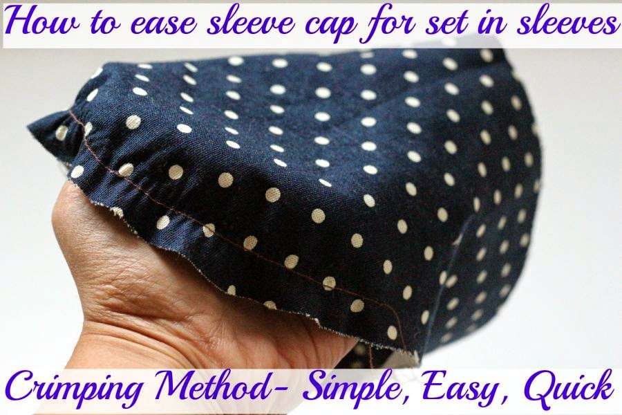 How to ease sleeve cap for set in sleeves
