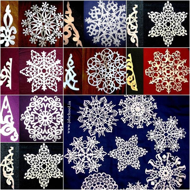Creative ideas beautiful paper snowflake crazzy craft for Diy snowflakes paper pattern