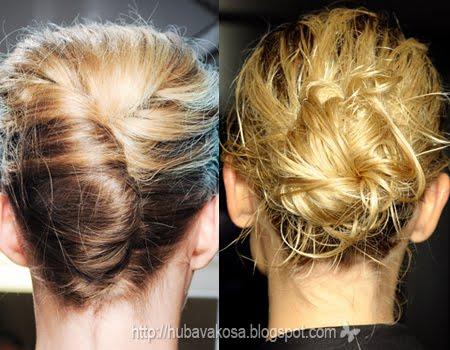 Narciso Rodriguez рошав френски кок и Bottega Veneta рошав кок с коса на клечки