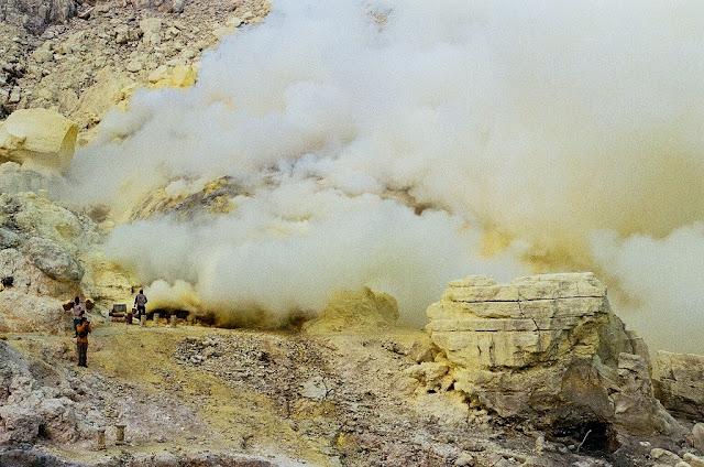 Ijen Sulfur Mining