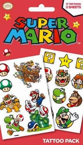 Super Mario Temporary Tattoos