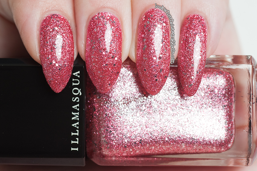 Illamasqua Shattered Star nail polish Glamore Collection Fire Rose
