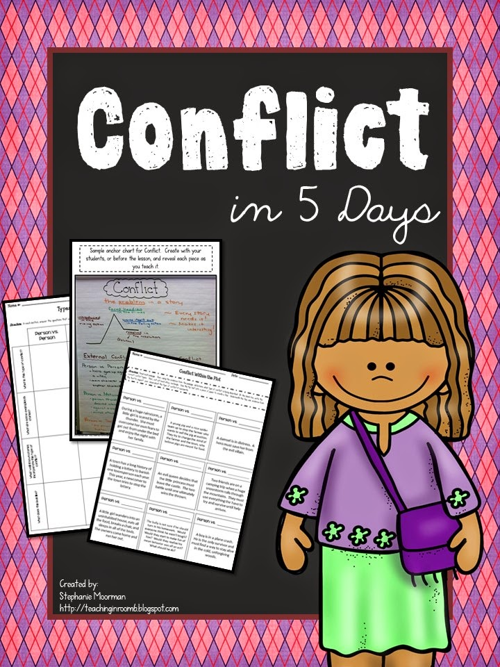 http://www.teacherspayteachers.com/Product/Conflict-in-5-Days-Lessons-to-Teach-Story-Conflict-1503391