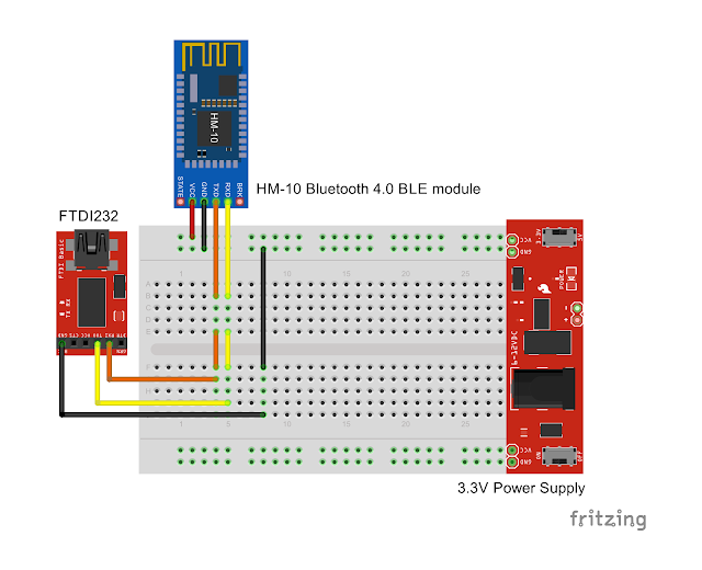 Arduino er test hm bluetooth ble module with ftdi