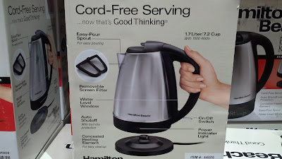 You can make several cups of tea using the Hamilton Beach Stainless Steel Electric Kettle (model 40989E)
