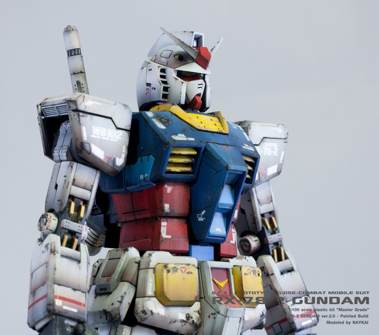 Gundam Weathering By Hand Painted