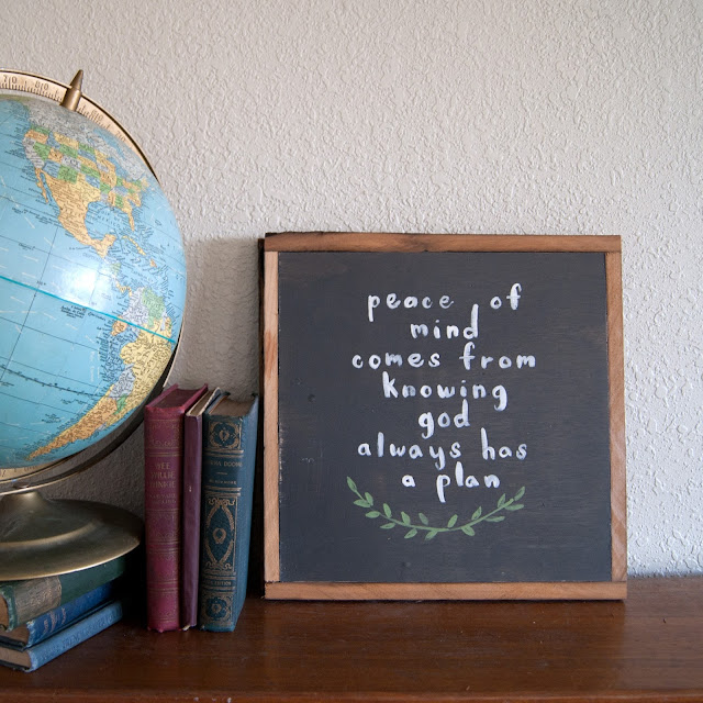 Averie Lane Boutique - Peace of Mind Sign - reclaimed wood, globe, vintage books