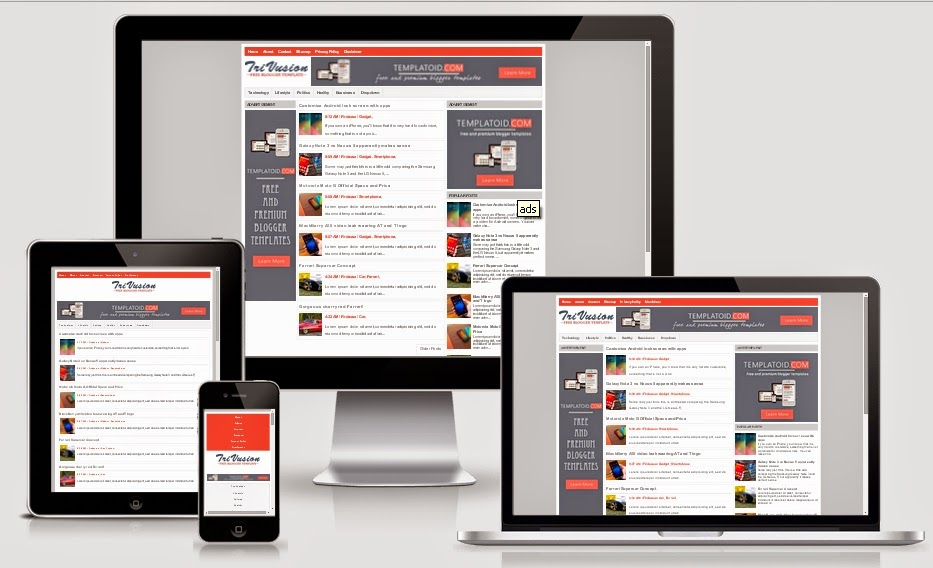 Trivusion Responsive Blogger Template