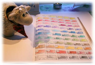 Jorull studerer fargekartet