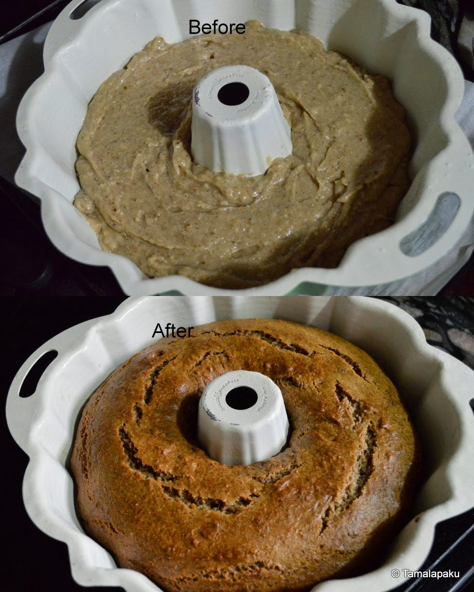 Eggless Dates Cake