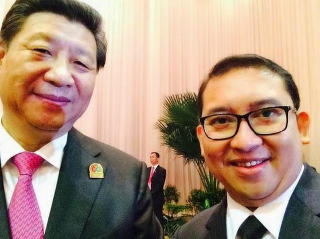 Presiden China Selfie Dengan Fadli Zon