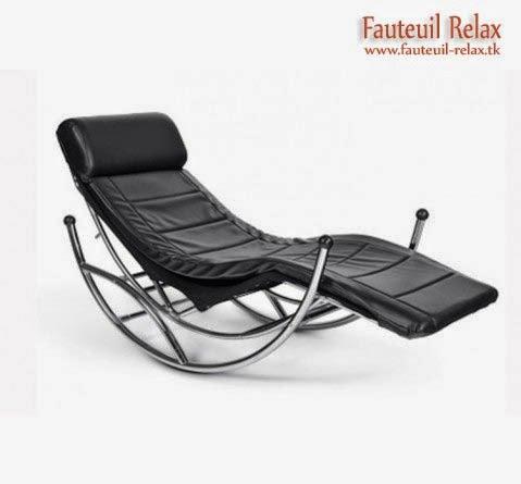 Fauteuil relax design luka noir fauteuil relax - Fauteuil relax salon ...