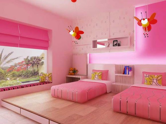 Bedroom design ideas; bedroom design ideas for girls; bedroom design for twins girls; girly bedroom designs ideas; pink bedroom designs ideas; teenagers bedroom design ideas; pink teenagers bedroom designs; pink teenagers inteiror bedroom designs; interior home designs