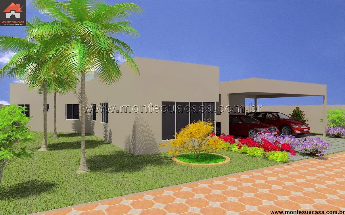 Projeto de casa t rrea de 200 m for Casas modernas de 80 metros
