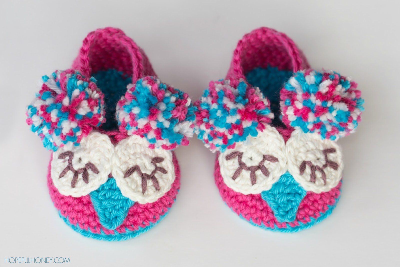 Crochet Pattern Owl Baby : Hopeful Honey Craft, Crochet, Create: Owl Baby Booties ...