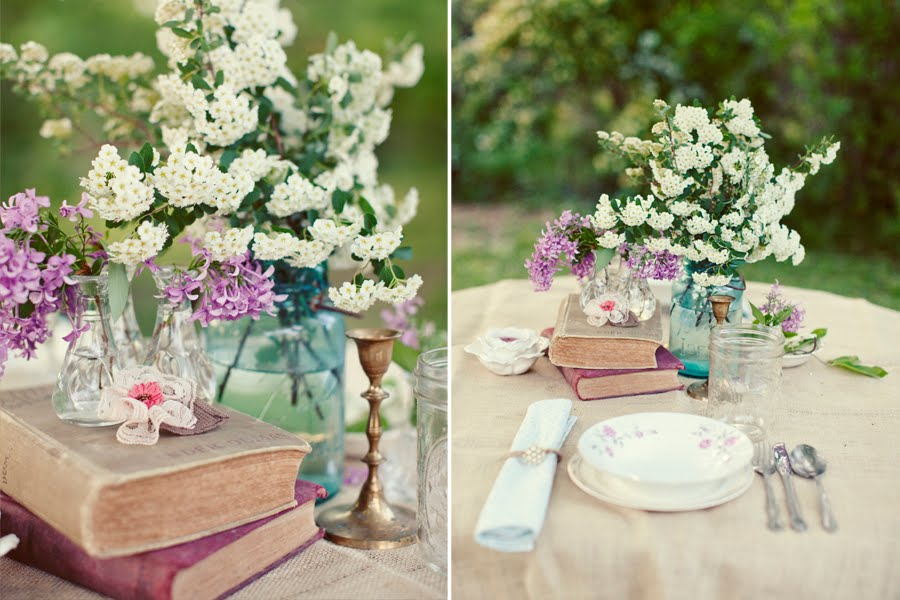Best wedding decorations amazing simple ideas for vintage for Wedding party table decorations