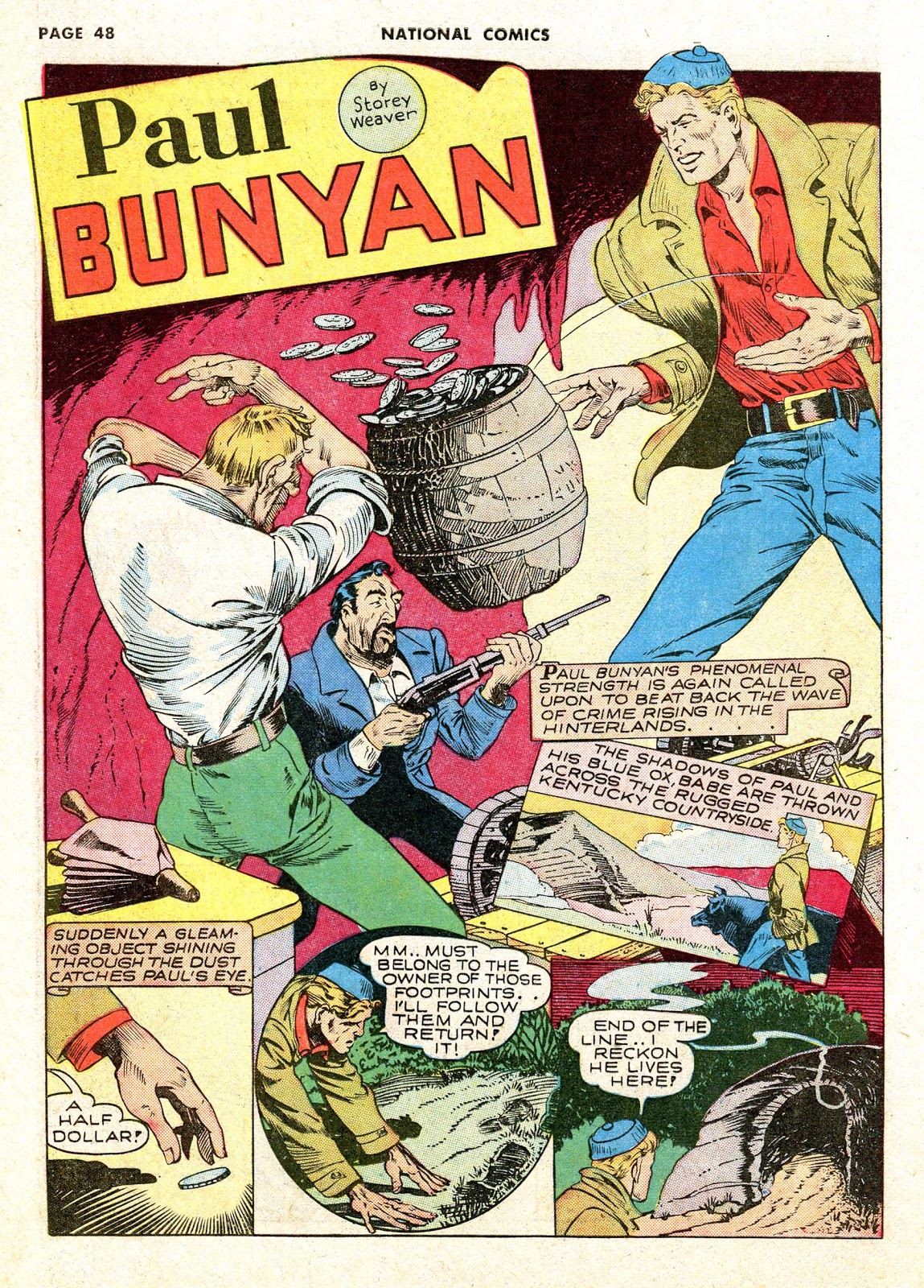 four color shadows paul bunyan national comics 1942