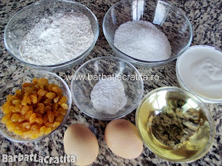 Briose cu stafide ingredientele necesare retetei