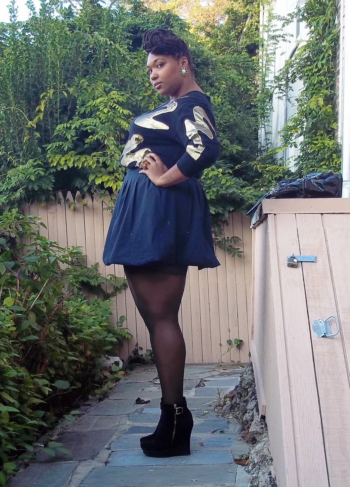 black & gold classic - a thick girl's closet
