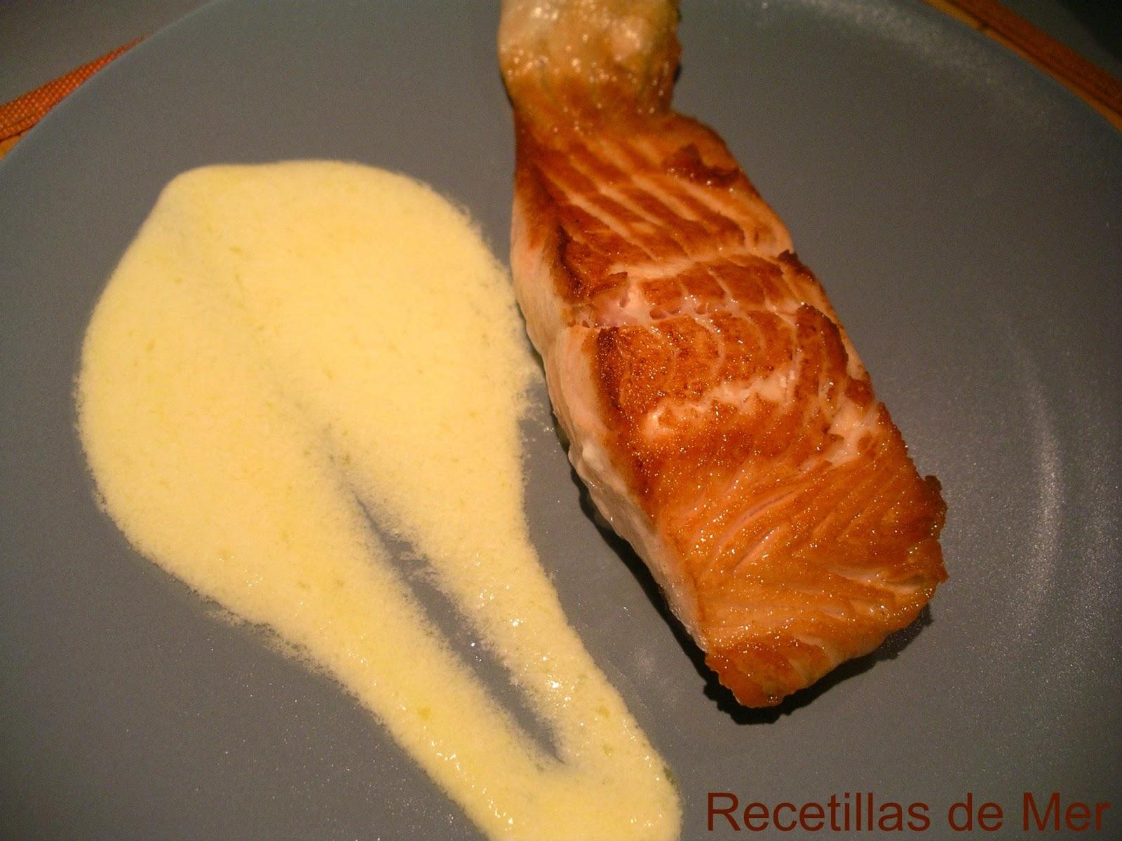 salmon. Recetillas de Mer