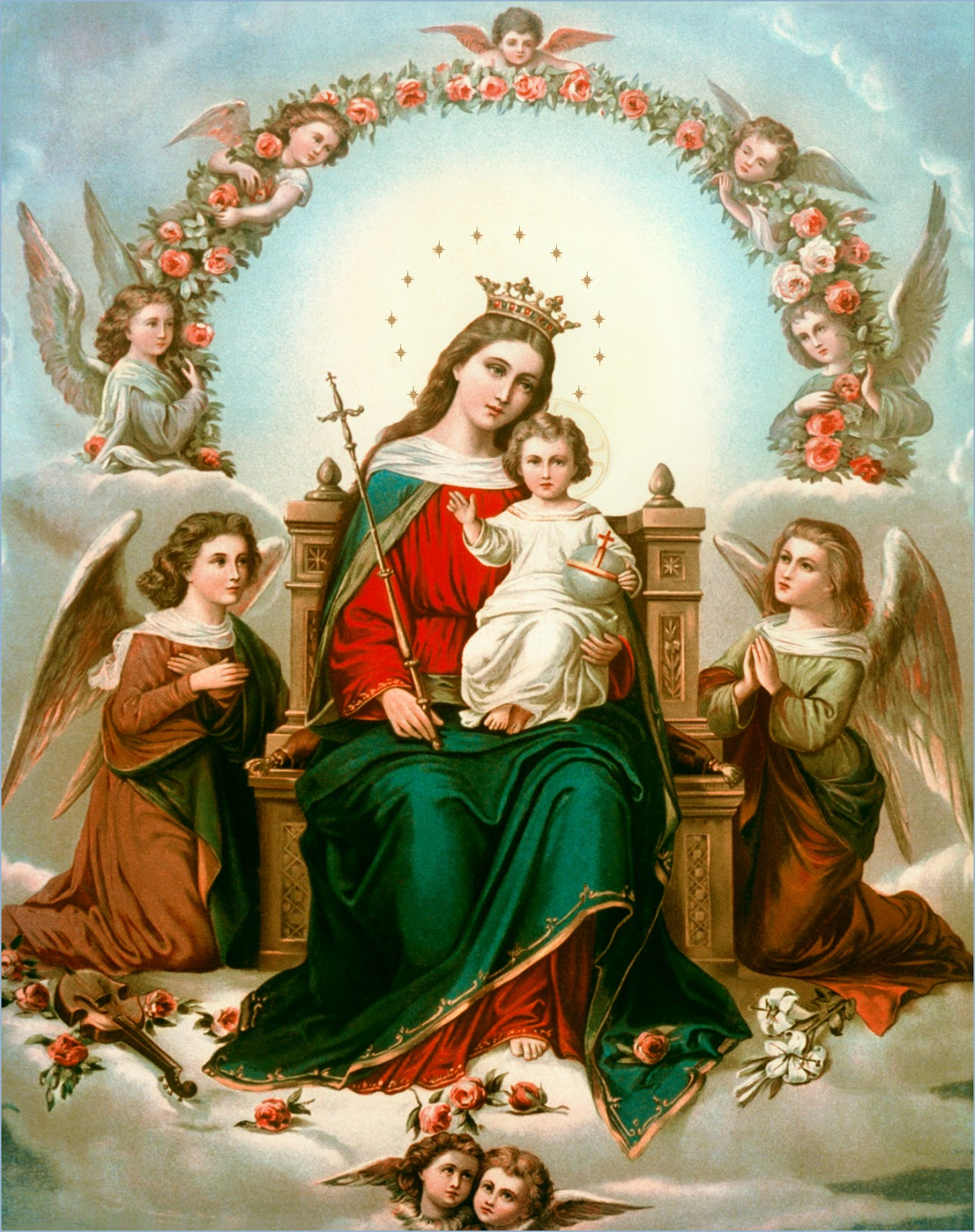 Blessed Mother Mary And Jesus Catholic Faith ...