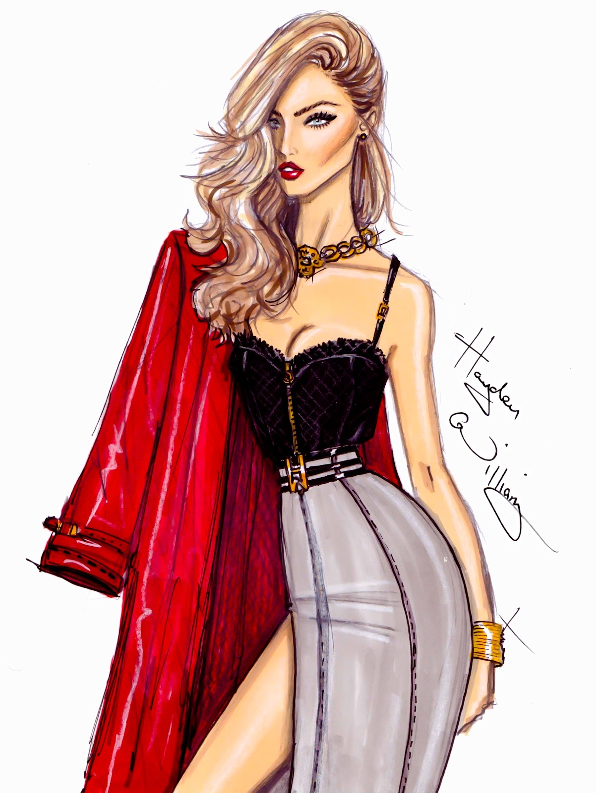 Excited too cute girl drawings fashion think, that