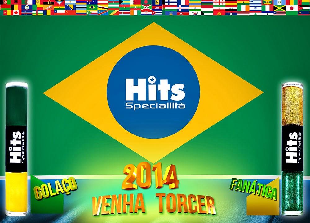Esmaltes Hits Coleção É Brasil Copa 2014