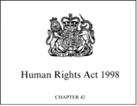 Image of print Human Rights Act front page