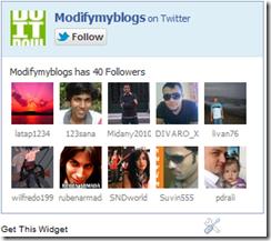 Twitter follow fan box
