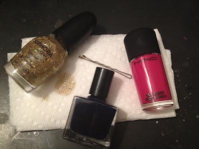 RGB 1996 For Need Supply Co., RGB nail polish, M.A.C, RGB, M.A.C nail polish, M.A.C nail lacquer, M.A.C Girl About Town nail polish, Sephora by OPI, Sephora by OPI top coat, Sephora by OPI nail polish, Sephora by OPI I Found A Pot of Gold, nail, nails, nail polish, polish, lacquer, nail lacquer, mani, manicure
