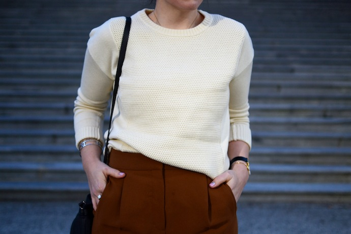Bench Establish sweater Vancouver blogger fall work outfit Aritzia