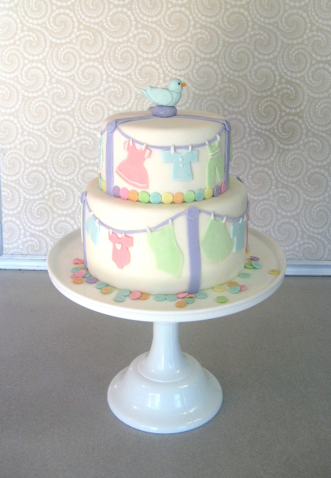 devanys designs pastel baby shower cake