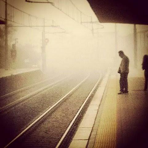 Nebbia sulla Roma-Lido
