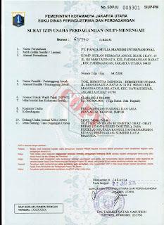 Modal Perusahaan Rp.500 juta Rp.500.000,-