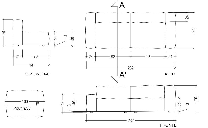 Divani e divani letto su misura maggio 2013 for Divano disegno