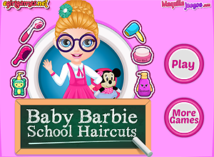Baby Barbie School Haircuts