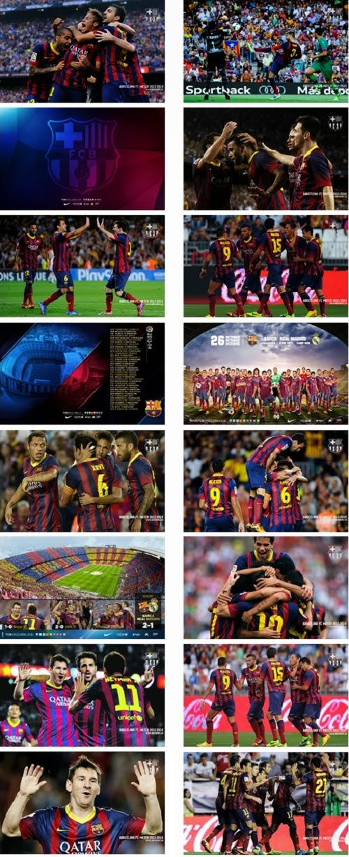Fc Barcelona 2013/2014 Theme For Windows 7 And 8 8.1